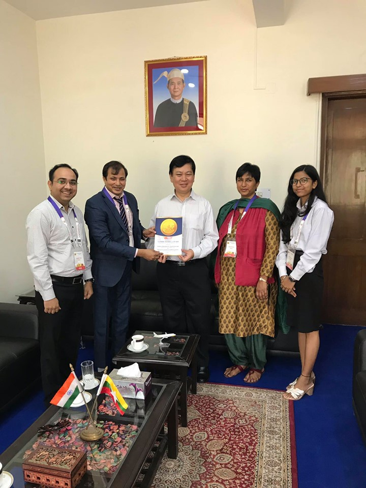 H.E. Moe Kyaw Aung ( Ambassador Extraordinary and Plenipotentiary of the Republic of the Union of Myanmar to the Republic of India)