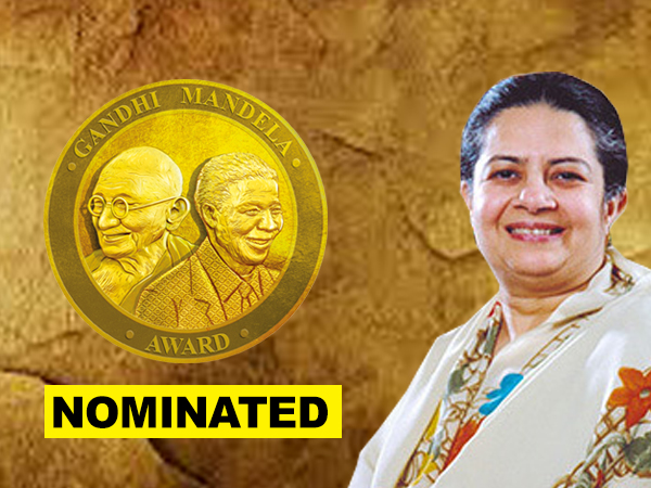 Rajshree Birla nominated for Gandhi Mandela Award