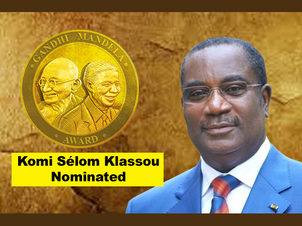 Komi Sélom Klassou nominated for Gandhi Mandela Award 2019