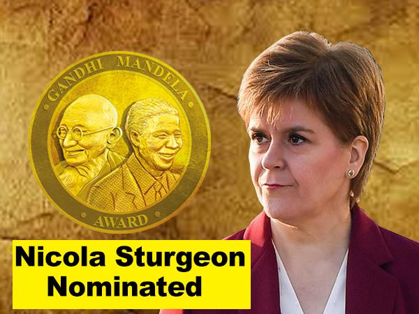 Nicola Ferguson Sturgeon nominated for Gandhi Mandela Award