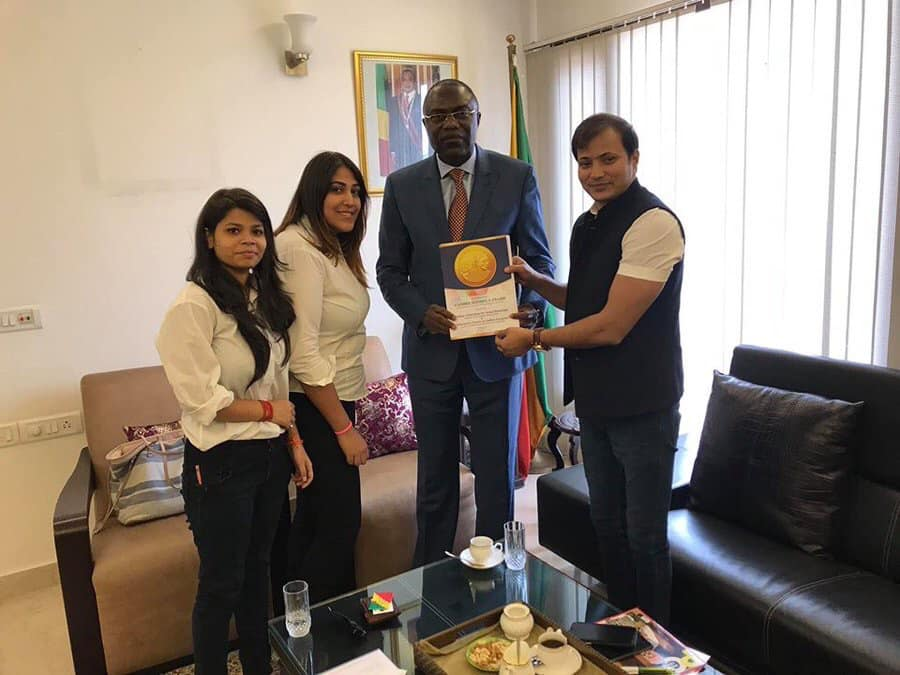 Mr Andre POH ( Ambassador of the Republic of CONGO to the Republic of India)