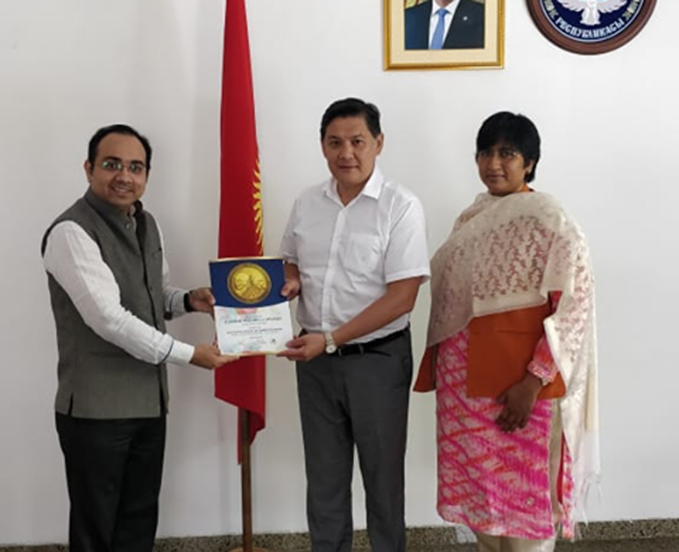 H.E. Mr. Asein Isaev (Ambassador of kyrgyzstan to the Republic of India)