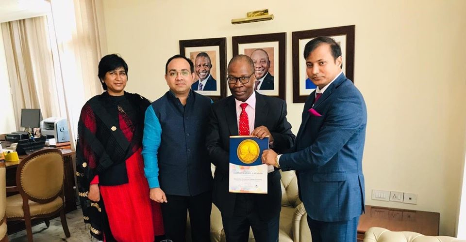 Mr. Sibusiso Ndebele (High commissioner Extraordinary and Plenipotentiary of South Africa to the India)